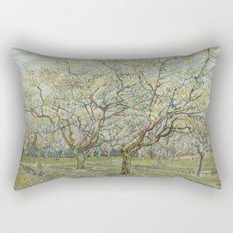 The White Orchard Rectangular Pillow