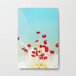 Blooming Candy Red Metal Print