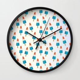 Blue Rockets Pattern Wall Clock