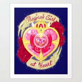 Magical Girl At Heart Art Print