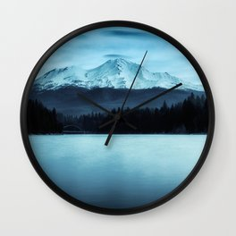 Mount Shasta Morning Wall Clock