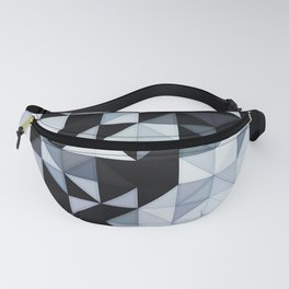 Abstract Black and White Geometry Fanny Pack