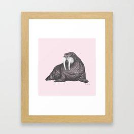 Frank Wallace in Pink Pattern Framed Art Print