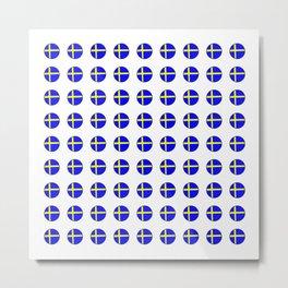 flag of sweden 3 Swedish,Sverige,Swede,Stockholm,Scandinavia,viking,bergman, strindberg Metal Print
