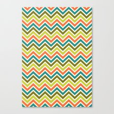 Citronique Series: Chevron Grand Sorbet Canvas Print
