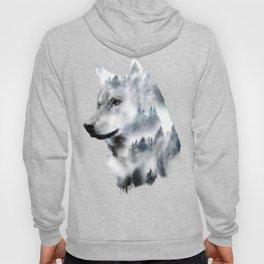 Double exposure wolf Hoody