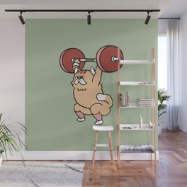 The snatch weightlifting Cat Wall Mural