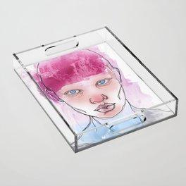Untitled ( Study of a Woman ) Acrylic Tray
