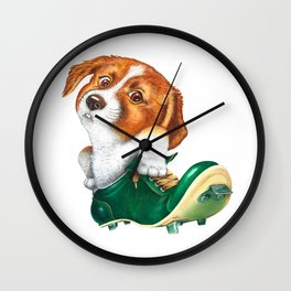 A little dog in a spike Wall Clock