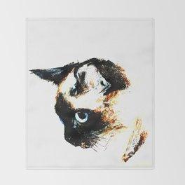Siamese Cat 2015 edit Throw Blanket