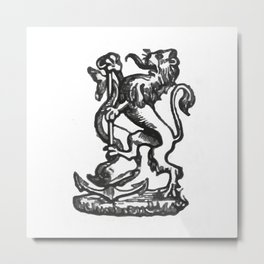 Anchor and rampant lion. Metal Print
