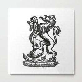 Anchor and rampant lion. Metal Print