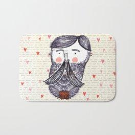 Bearded Lumberjack Man Bath Mat