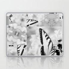 Black & White Swallowtail Butterfly Laptop & iPad Skin