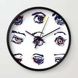 Left eyes Wall Clock