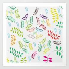 ORGANIC & NATURE (COLORS) Art Print