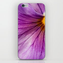 Purple Pansy Flower Close-up #decor #society6 #buyart iPhone Skin