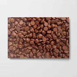 Delicious milk chocolate chips Metal Print