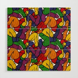 Schlong Song in Rainbow, All the Penis! Wood Wall Art