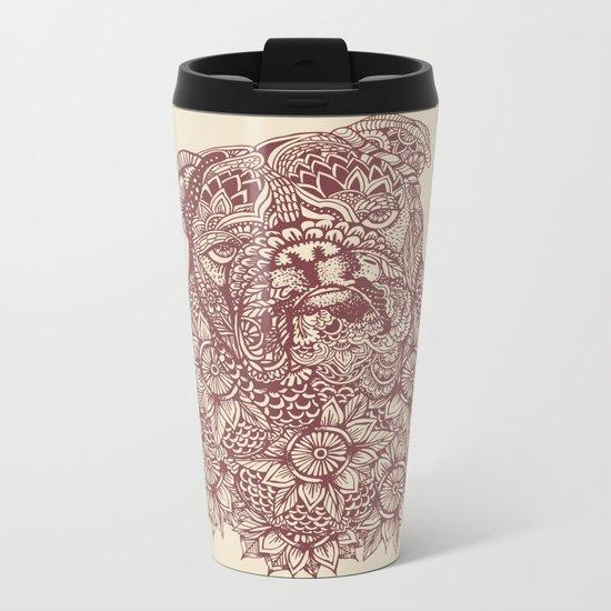 MANDALA OF ENGLISH BULLDOG Metal Travel Mug