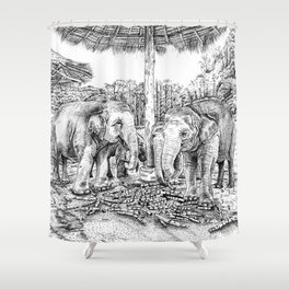 Rescued Shower Curtain