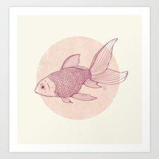 Lonely Goldfish Art Print
