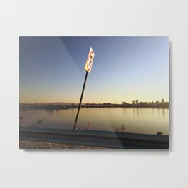 Pollution Permitted Metal Print