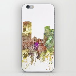 Little Rock, Arkansas Skyline - Faded Glory iPhone Skin
