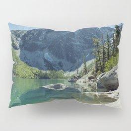 Emerald Green Alpine Lake Pillow Sham