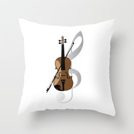 Violin Musical Instrument Throw Pillow