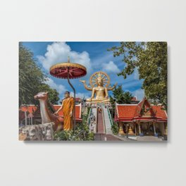 Big Buddha Temple Metal Print