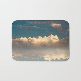 Bright and dark clouds Bath Mat