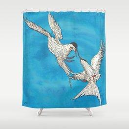 Arctic Terns Shower Curtain