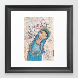 Blessed Mary by patsy paterno Framed Art Print