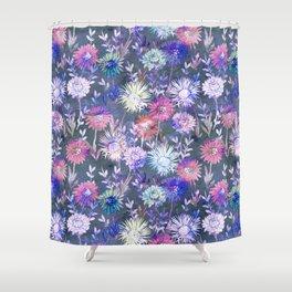 Gillian Floral Gray Shower Curtain
