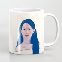 kitsune Mugs featuring Kitsune by days & hours