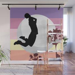 Slam dunk at Miami beach Wall Mural
