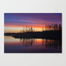 lake in Finland at early night 3 Canvas Print