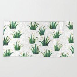 Field of Aloe Beach Towel