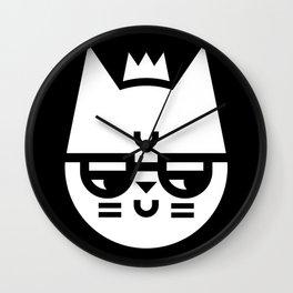 Cynical Cat Wall Clock