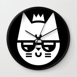 Cynical Cat Wall Clock