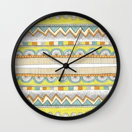 pattern with pale colors Wall Clock