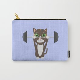 Fitness cat weight lifting   Carry-All Pouch
