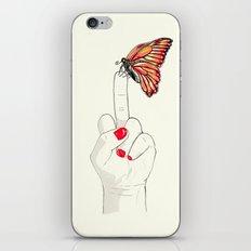 Peineta y mariposa iPhone & iPod Skin