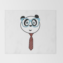 Panda Nerd Throw Blanket