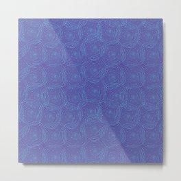 Swirly Squares Metal Print