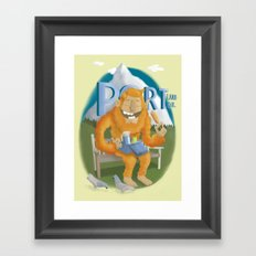 Portland Sasquatch Framed Art Print