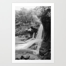 Cataract Falls B&W Art Print