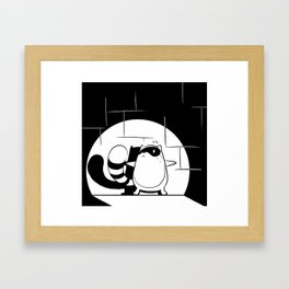 Ya caught me Framed Art Print