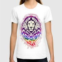 psychedelic art T-shirts featuring Lion Psychedelic Pop Art by BluedarkArt